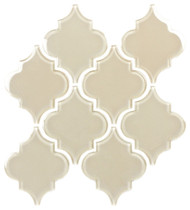 "Bellavita Tile Arabesque Caf_ Glossy 5 1/4"" x 6 3/8"""