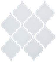 "Bellavita Tile Arabesque Cotton Glossy 5 1/4"" x 6 3/8"""