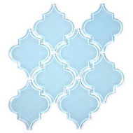 "Bellavita Tile Arabesque Denim Glossy 5 1/4"" x 6 3/8"""