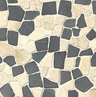 Bedrosians Tilecrest Hemisphere Island Blend Unglazed Crazy Square Interlocking Mosaic
