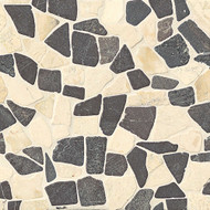 Bedrosians Tilecrest Hemisphere Baltra Blend Unglazed Crazy Square Interlocking Mosaic