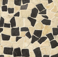 Bedrosians Tilecrest Hemisphere Island Blend Glazed Crazy Square Interlocking Mosaic