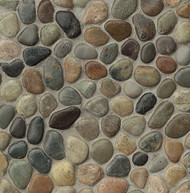 Bedrosians Tilecrest Hemisphere Riverbed Glazed Pebble Mosaic