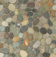 Bedrosians Tilecrest Hemisphere Riverbed Unglazed Pebble Sliced Mosaic