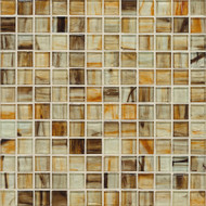 "Bedrosians Tilecrest Pool Tile Emerlad Series Burnt Sand 1"" x 1"" Mosaic"