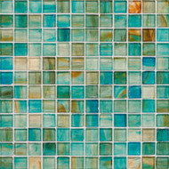 "Bedrosians Tilecrest Pool Tile Emerlad Series Carribean 1"" x 1"" Mosaic"