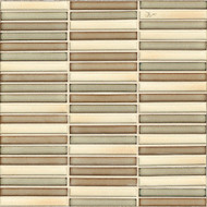 Bedrosians Tilecrest Shizen Canyon Blend Stacked Mosaic Blends