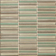Bedrosians Tilecrest Shizen Woodland Blend Stacked Mosaic Blends