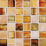 """Hirsch Glass Blended Ice Cashmere 1"""" x 1"""" Mosaic"""