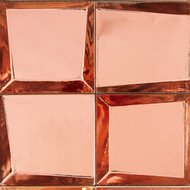 """Crossville Sideview Glass Copper Polished 3"""" x 3"""" SV04"""