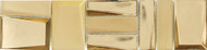 """Crossville Sideview Glass Gold Matte/Polished 3"""" x 12 Accent Bar Mixed SV03"""