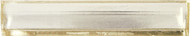 """Crossville Sideview Glass Silver Polished 1 1/8"""" x 6"""" Liner Bar SV02"""
