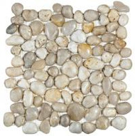 "Bati Orient Pebbles White 12"" x 12"" Polished GABL03"