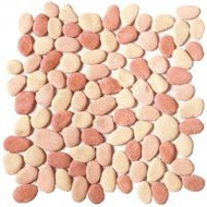 "Bati Orient Pebbles Mix Peach 12"" x 12"" Reconstituted GAPE01"