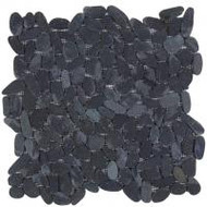 "Bati Orient Pebbles Black 12"" x 12"" Sliced Matte GANO15"