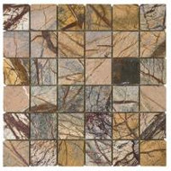"Bati Orient Decorative Mosaics Forest Brown 2"" x 2"" Polished Marble"