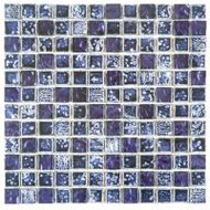 "Bati Orient Decorative Mosaics Glass Purple 7/8"" x 7/8"" Marble, Glass, and Metal"