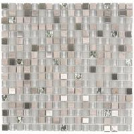 "Bati Orient Decorative Mosaics Mix Steel/Glass Matt-Glossy 5/8"" x 5/8"" Glass And Steel"