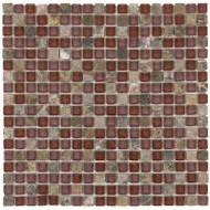 "Bati Orient Decorative Mosaics Brown/Brown Glass 5/8"" x 5/8"" Marble And Glass"
