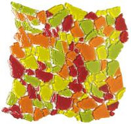 "Bati Orient Decorative Mosaics Green/Orange/Red 12"" x 12"" Glass Mosaic"