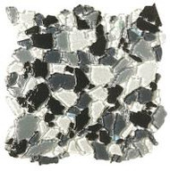 "Bati Orient Decorative Mosaics Black/Grey/White 12"" x 12"" Glass Mosaic"