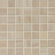 "Bedrosians Tilecrest Rose Wood Off White 1.5"" x 1.5"" Mosaic POL"