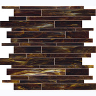 Marazzi Catwalk Glass Mosaic Walnut Wedge