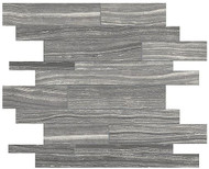 Anatolia Tile Eramosa Carbon Random Strip Mosaic Rectified