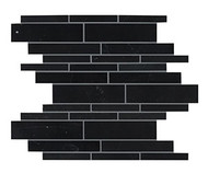 Crossville Yin + Yang Black Dragon Random Linear Mosaic Polished