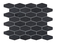 Crossville Yin + Yang Black Dragon Elongated Hex Mosaic