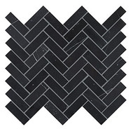 Crossville Yin + Yang Black Dragon Herringbone Mosaic