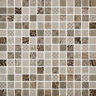Daltile Uptown Glass Exotic Ivory Mosaic