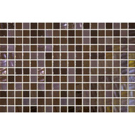 Daltile Uptown Glass Pearl Brown Mosaic