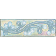 Daltile Cristallo Glass Aquamarine Vine