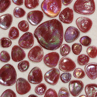 Daltile Glass Pebbles Scarlett Iredescent Mosaic