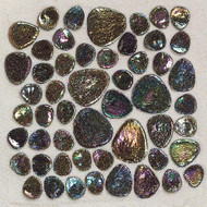 Daltile Glass Pebbles Shell Iredescent Mosaic