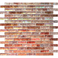 "Daltile Soiree Glass Antigua 5/8"" Random Strip Mosaic"