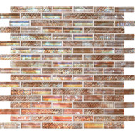 "Daltile Soiree Glass Aruba 5/8"" Random Strip Mosaic"