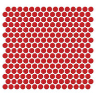 Daltile Retro Rounds Cherry Red Mosaic