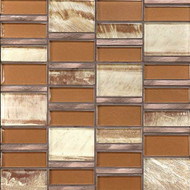 Daltile Tiger Eye TE34 Sumatran Copper Mosaic