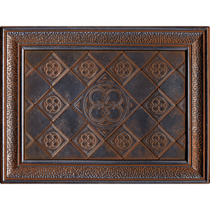 Daltile Castle Metals Wrought Iron Clover Mural