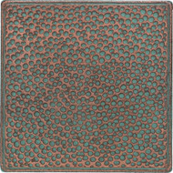 Daltile Castle Metals Aged Copper Hammered Insert