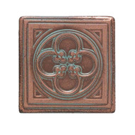 Daltile Castle Metals Aged Copper Clover Dot