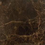 "Interceramic Marble Dark Emperador Polished 12"" x 12"""