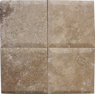 "Interceramic Mexican Travertine Chocolate Bisello Honed/Filled 6"" x 6"""