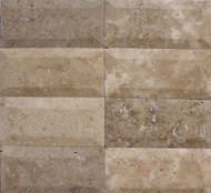 "Interceramic Mexican Travertine Chocolate Bisello Honed/Filled 3"" x 6"""