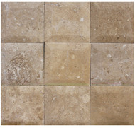 "Interceramic Mexican Travertine Chocolate Bisello Honed/Filled 4"" x 4"""