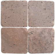 "Interceramic Mexican Travertine Chocolate Tumbled 6"" x 6"""