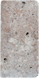 "Interceramic Mexican Travertine Chocolate Tumbled 3"" x 6"""