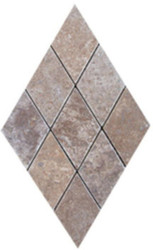 "Interceramic Mexican Travertine Chocolate Diamond Mosaic 2"" x 2"""